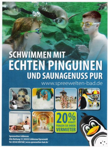 Ferienwohnung, Schlepzig, Spreewald,, Badeparadies, Saunapark, Lübbenau